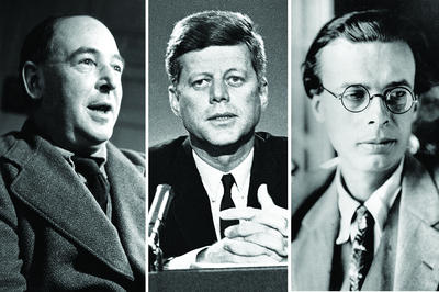 C.S. Lewis, John F. Kennedy and Aldous Huxley